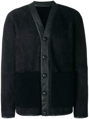 Joseph fur patch pocket jacket