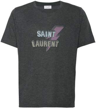 Saint Laurent lightning bolt logo T-shirt