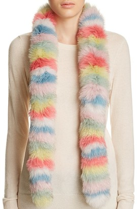 Jocelyn Multi Stripe Fox Fur Scarf - 100% Exclusive $225 thestylecure.com