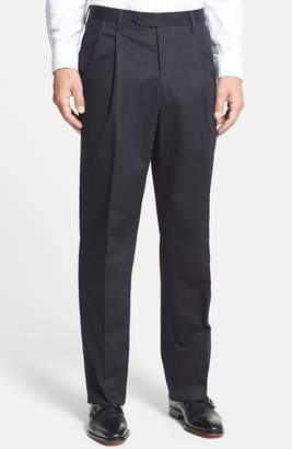 Berle Pleated Cotton Trousers