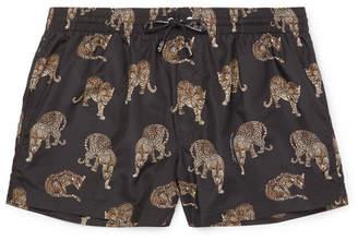 Dolce & Gabbana Slim-Fit Short-Length Printed Swim Shorts