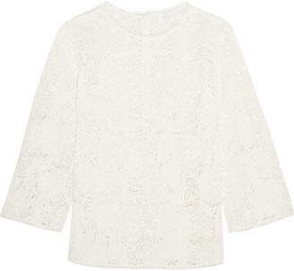 Zimmermann - Aerial Guipure Cotton-lace Top - Ivory $530 thestylecure.com