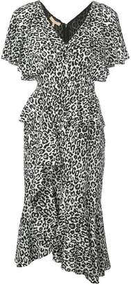 Michael Kors leopard print ruffled dress