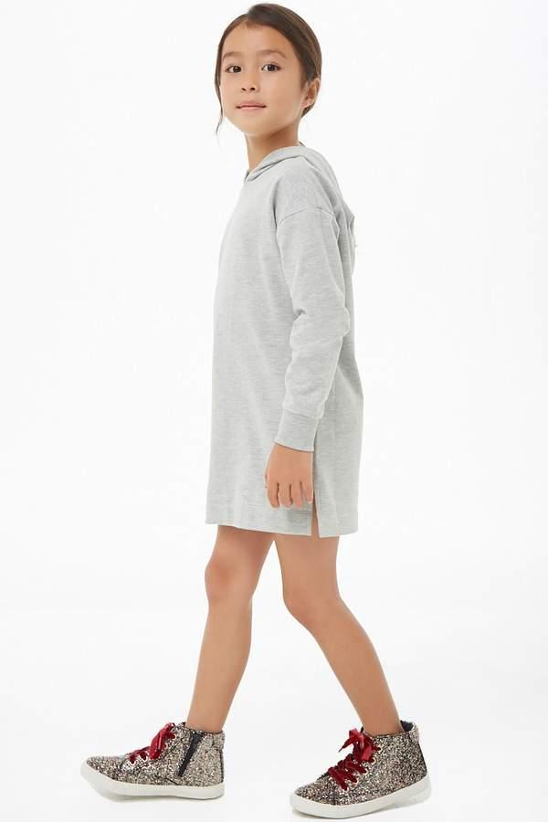 Forever 21 Girls Hooded French Terry Dress (Kids)