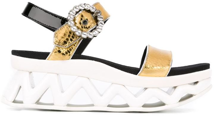 Marc By Marc Jacobs 'Ninja Strass' wave sandals