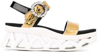 Marc By Marc Jacobs 'Ninja Strass' wave sandals $617.28 thestylecure.com