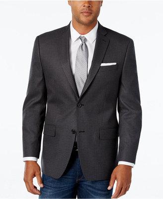MICHAEL Michael Kors Men's Classic-Fit Gray Black Houndstooth Sport Coat $295 thestylecure.com