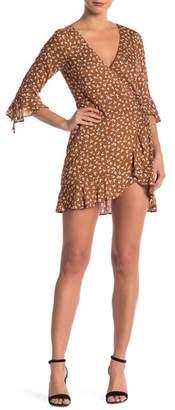 Dee Elly Patterned Wrap Dress