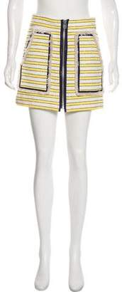 Veronica Beard Striped Tweed Skirt