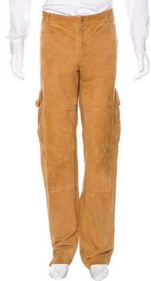 Dolce & Gabbana Suede Cargo Pants