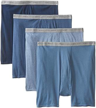 Hanes Mens Dyed Boxer Brief (Pack of 4) Colors XXL