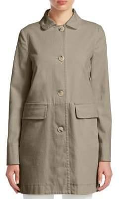 Emporio Armani Cotton Caban Coat