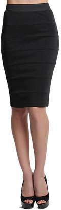 TheMogan Women's Bandage Stretch Knit Play To Work Pencil Skirt