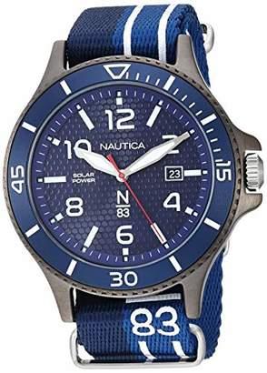 Nautica N83 Men's NAPCBS903 Cocoa Beach Solar Fabric Slip-Thru Strap Watch