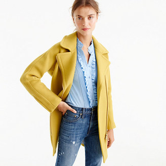Petite zippered coat in stadium-cloth $259.99 thestylecure.com
