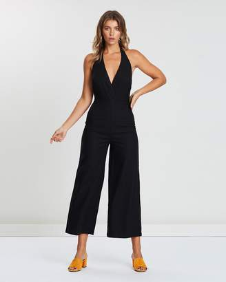 Atmos & Here ICONIC EXCLUSIVE - Evie Linen Halter Neck Jumpsuit