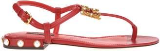 Dolce & Gabbana Logo Flat Sandal