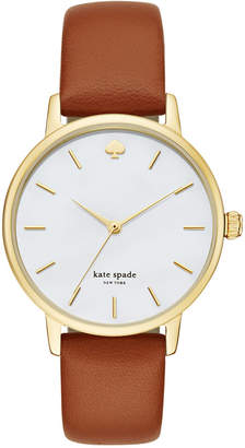 Kate Spade Women's Metro Luggage Leather Strap Watch 34mm KSW1142
