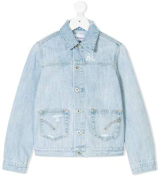 Dondup Kids distressed denim jacket