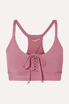 Year Of Ours Cindy Lace-up Stretch Sports Bra