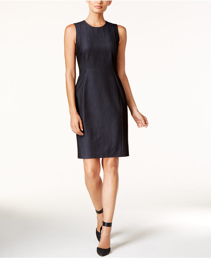 Calvin Klein Denim Sheath Dress