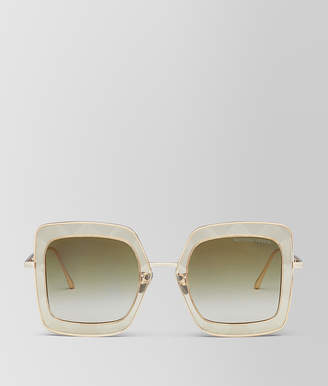 Bottega Veneta YELLOW METAL SUNGLASSES