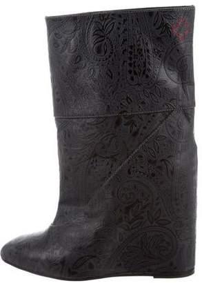 A.F.Vandevorst A.F. Vandevorst Leather Wedge Mid-Calf Boots w/ Tags
