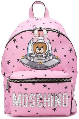 Moschino space teddy backpack