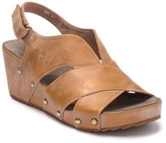 Antelope V Cut Leather Wedge Sandal