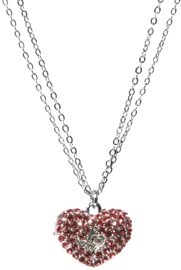 Lipsy Pave Heart Necklace