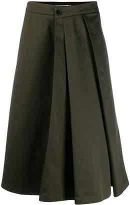 Barena flared pleated skirt