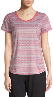 ST. JOHN'S BAY SJB ACTIVE Active S19 Quick Dri Tee-Womens V Neck Short Sleeve T-Shirt