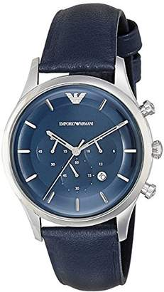 Emporio Armani Men's 'Lambda' Quartz Stainless Steel and Leather Casual Watch