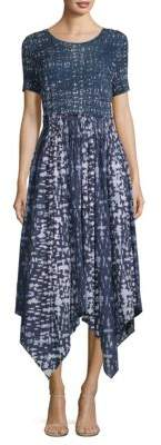Donna Karan Mixed Media Trapeze Dress