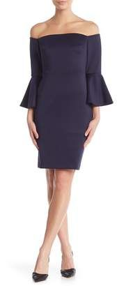 Betsey Johnson Off-the-Shoulder Bell Sleeve Dress