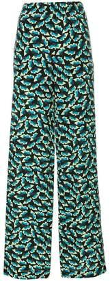 Marni printed high waist trousers
