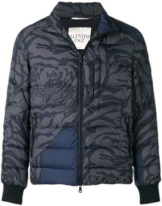 Valentino tiger quilted jacket