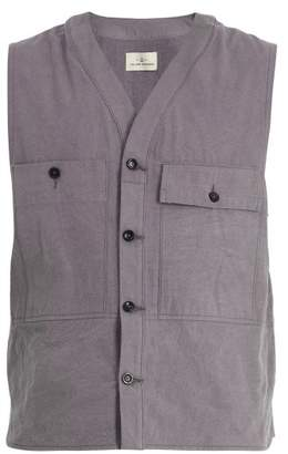 The Lost Explorer - Agouti Patch Pocket Organic Cotton Gilet - Mens - Grey