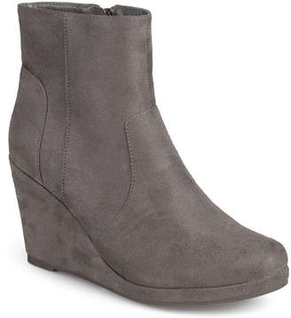 Journee Collection Koala Wedge Womens Ankle Boots