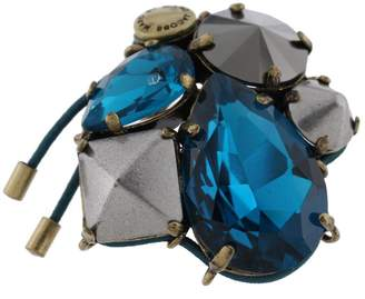 Marc by Marc Jacobs Womens Claude Crystal Oversized Statement Ring Blue