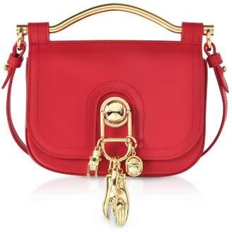 Carven Pepper Red Leather Misti Crossbody Bag