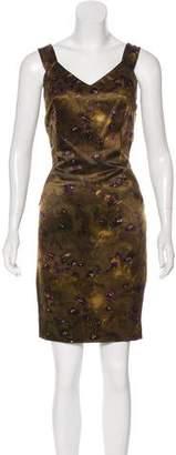 Michael Kors Floral Printed Knee-Length Dress