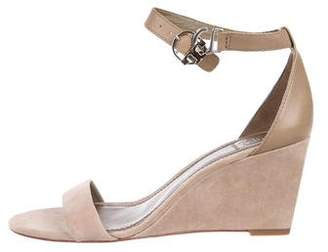 Tory Burch Suede Ankle-Strap Wedges