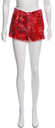 IRO Omiandato Mid-Rise Linen Mini Shorts w/ Tags