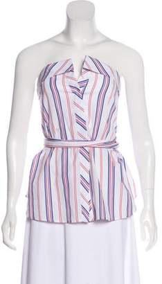 N. Nicholas Striped Strapless Blouse