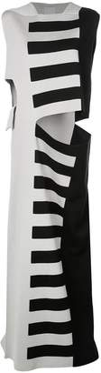 Rick Owens striped cut-out maxi dress