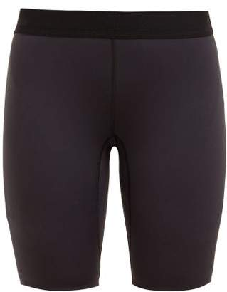 Raey Contrast Waistband Cycling Shorts - Womens - Navy