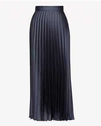 Juicy Couture Pleated Silk Midi Skirt