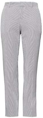 Banana Republic Petite Avery Straight-Fit Stretch Seersucker Ankle Pant