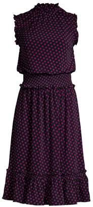MICHAEL Michael Kors Sliced Dot Fit-&-Flare Dress
